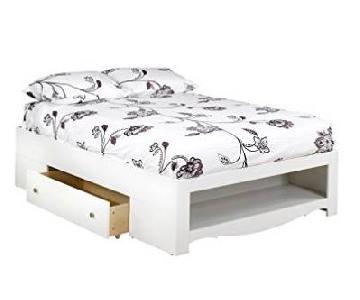 Nexera Full Size 2-Drawer Storage Bed in White