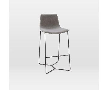 West Elm Slope Upholstered Counter Stool