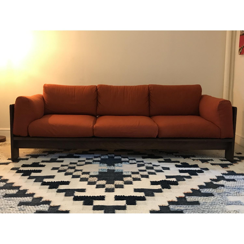 Tobia Scarpa for Knoll Bastiano Rosewood Sofa in Merino Wool-0