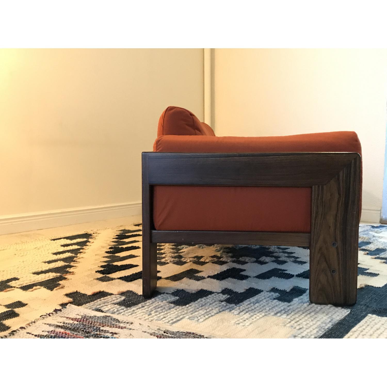 Tobia Scarpa for Knoll Bastiano Rosewood Sofa in Merino Wool-1