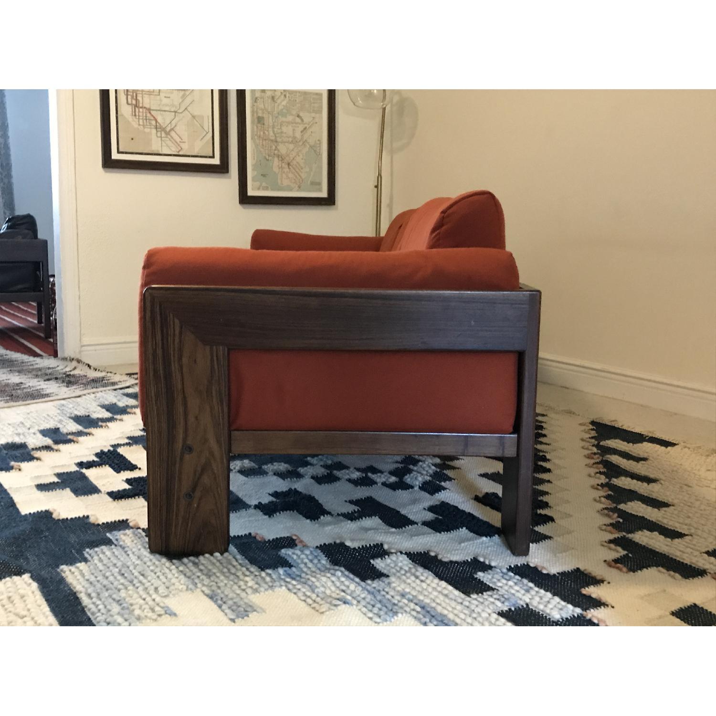 Tobia Scarpa for Knoll Bastiano Rosewood Sofa in Merino Wool-2