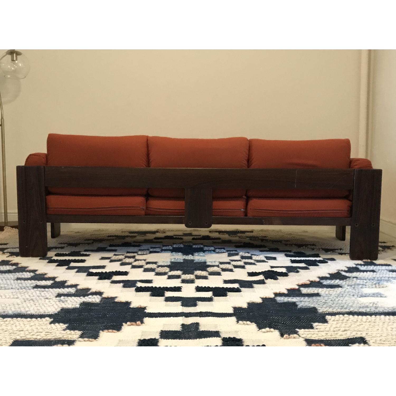 Tobia Scarpa for Knoll Bastiano Rosewood Sofa in Merino Wool-3