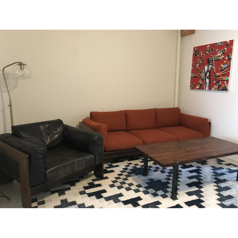 Tobia Scarpa for Knoll Bastiano Rosewood Sofa in Merino Wool-4