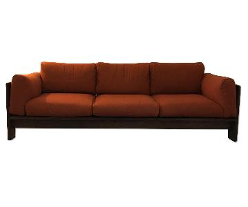 Tobia Scarpa for Knoll Bastiano Rosewood Sofa in Merino Wool