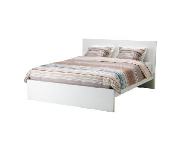 Ikea White Full Bed w/ Headboard