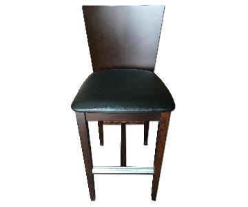 Modern Barstool w/ Padded Seat & Aluminum Foot-Rest