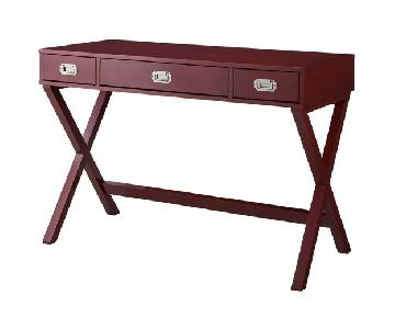 Target Threshold Red Oriental Desk
