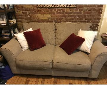Tan 2-Seater Sofa