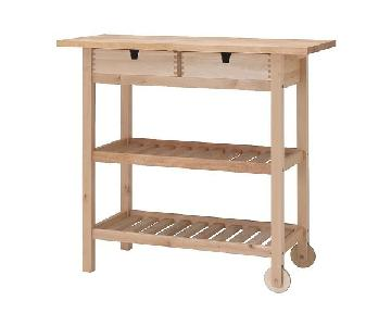 Ikea Kitchen Island w/ Shelves & Drawers