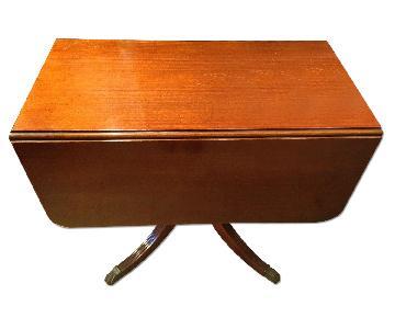 Brandt Mahogany Drop Leaf Table in Medium Brown