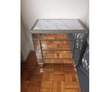 Mirrored Chest w/ Marble Top