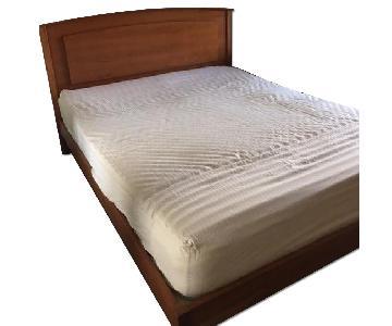 Brandon Cherry Wood Veneer Queen Platform Bed