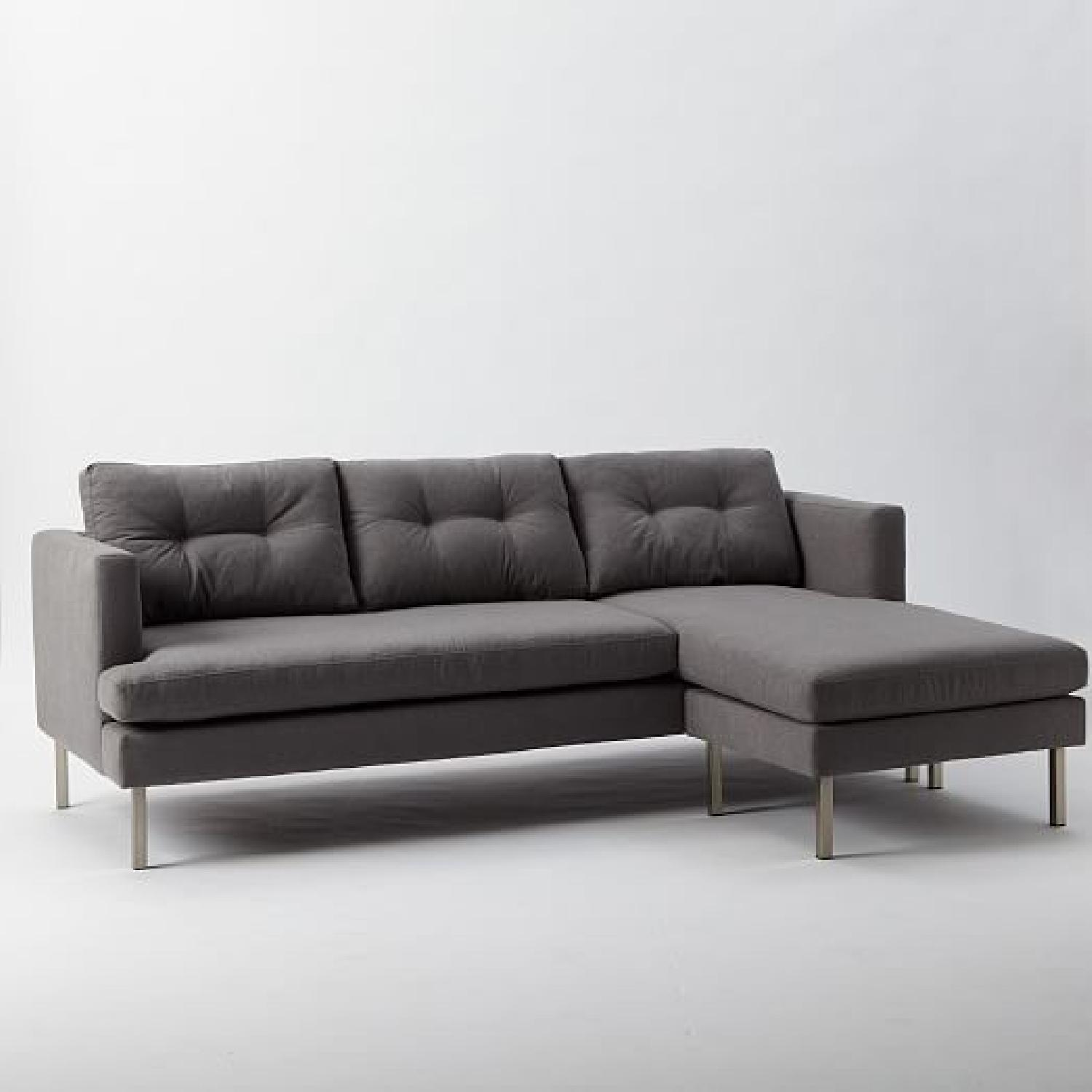 West Elm Sectional Rounded Retro Curved Sofa West Elm Quicklook