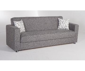 Istikbal Furniture Grey Convertible Sofa Bed