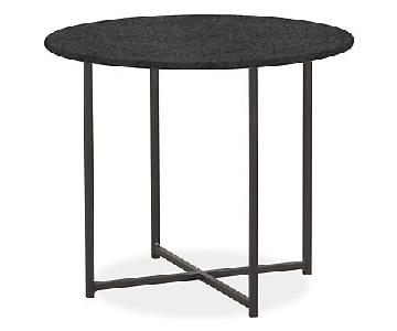 Room & Board Round End Table w/ Brown Granite Top