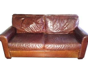 Scott Jordan Leather Sleeper Sofa