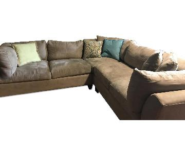 Raymour & Flanigan Cindy Crawford 3 Piece Sectional