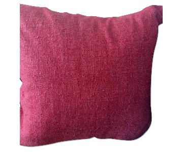Ralph Lauren Fuchsia Silk Pillow Cover w/ Feather Insert