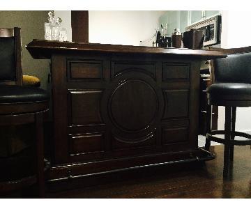 Bar Table w/ Storage & 2 Bar Stools