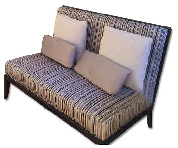 Raymour U0026 Flanigan Striped Settee ...