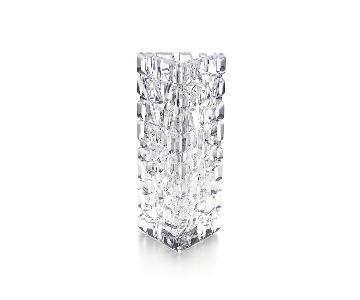 Tiffany Crystal Triangular Bud Vase