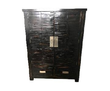 Henredon Black Wood Armoire
