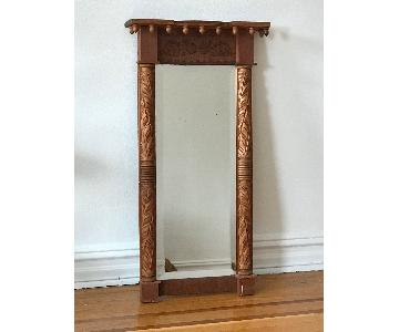Carved Wood Bevel-Edged Wall Mirror