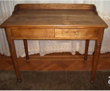 Vintage Rustic Wood Writing Desk