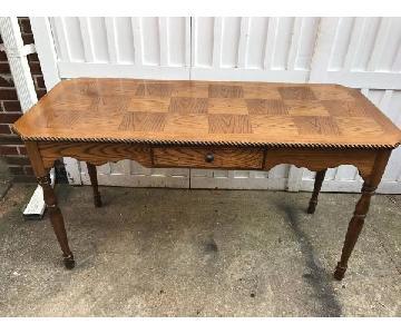 Vintage Oak Inlay Desk