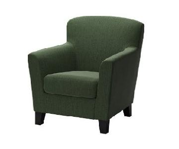 Ikea Ekenas Green Armchair