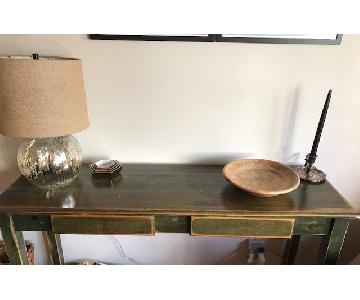 Gothic Cabinet Craft Console Table w/ 2 Drawers