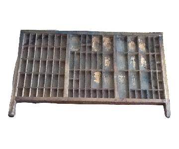 Vintage Printers Type Case Letter Tray Letter Press