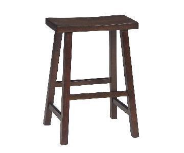 Walnut Saddle Seat Barstool