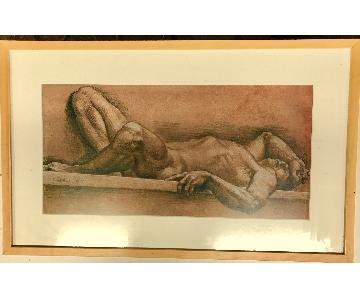 Paul Cadmus Framed Print - Male Nude