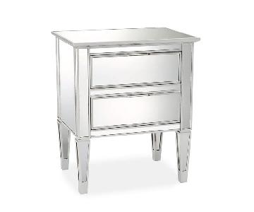 Pottery Barn Mirrored Bedside 2 Drawer Bedside Tables