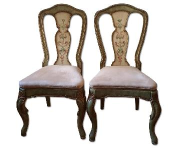 Solid Wood Hand Painted Italian Style Chairs