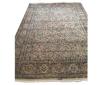 Traditional Teal & Ivory Rug