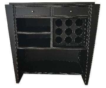 Black Leather Art Deco Bar
