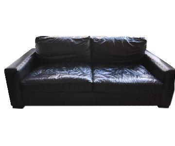 Restoration Hardware Maxwell Leather Sofa in Ebony