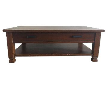 Pottery Barn Distressed Wood Coffee Table