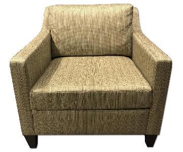 Ethan Allen Upholstered Club Armchair
