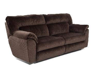 Bob's Brava Brown 2 Seater Reclining Sofa