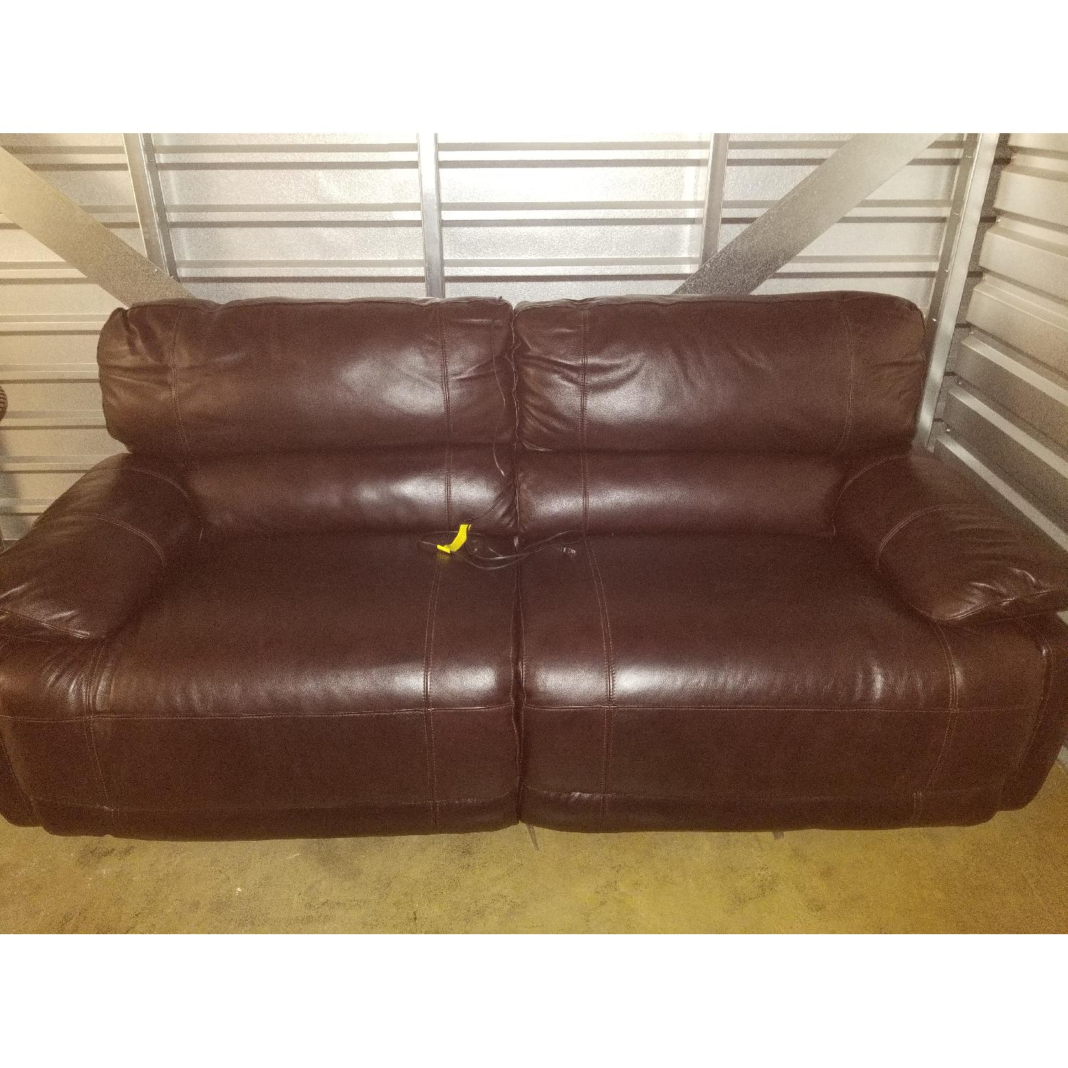 Leather Sofa Bed Macys Avenell 3pc Leather Sectional With Sleeper