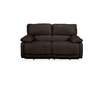 Macy's Leather Sofa + Lounge Chair