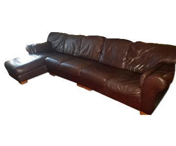 Raymour & Flanigan Leather Sectional Sofa