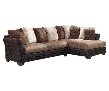 Ashley's Masoli Mocha Sectional sofa set - L-Shaped Couch