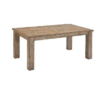 Jennifer Convertibles Rustic Wood Dining Table