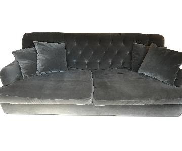 Cisco Brothers Clarence Velvet Tufted Sofa