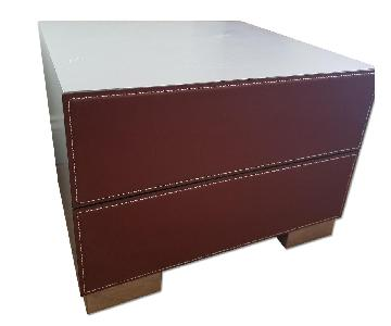 Design Center Nicoletti Italia Leather Dandi Night Stands