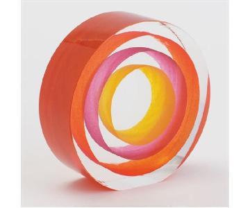 DwellStudio by Global Views Glass Orange Rock Candy Object